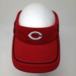MLB Cincinnati Red Unisex Adjustable Visor Hat